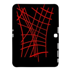 Neon red abstraction Samsung Galaxy Tab 4 (10.1 ) Hardshell Case