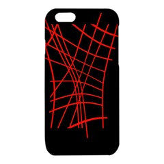Neon red abstraction iPhone 6/6S TPU Case