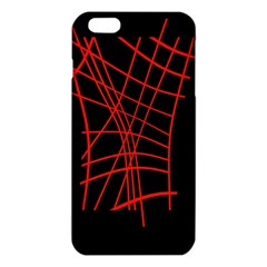 Neon Red Abstraction Iphone 6 Plus/6s Plus Tpu Case