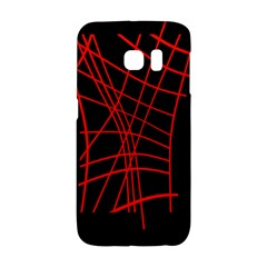 Neon red abstraction Galaxy S6 Edge