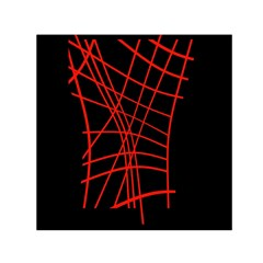 Neon red abstraction Small Satin Scarf (Square)