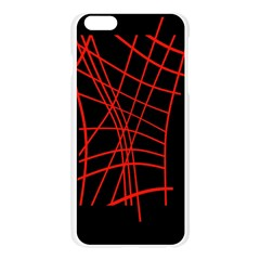 Neon red abstraction Apple Seamless iPhone 6 Plus/6S Plus Case (Transparent)