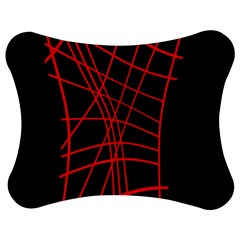 Neon red abstraction Jigsaw Puzzle Photo Stand (Bow)