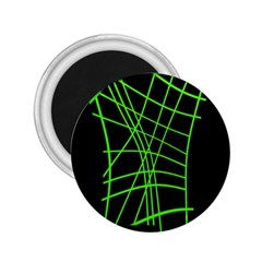 Green neon abstraction 2.25  Magnets