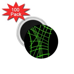 Green neon abstraction 1.75  Magnets (100 pack)