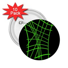 Green neon abstraction 2.25  Buttons (10 pack)