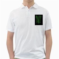 Green neon abstraction Golf Shirts