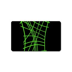Green neon abstraction Magnet (Name Card)