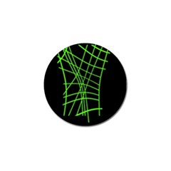 Green neon abstraction Golf Ball Marker