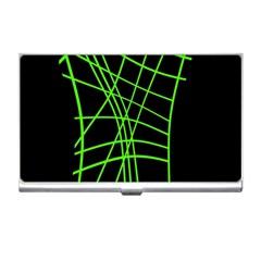 Green neon abstraction Business Card Holders