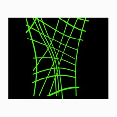 Green neon abstraction Small Glasses Cloth