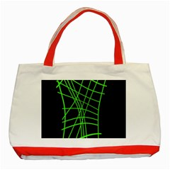 Green neon abstraction Classic Tote Bag (Red)