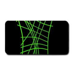 Green neon abstraction Medium Bar Mats