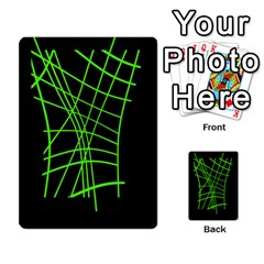 Green Neon Abstraction Multi Purpose Cards (rectangle)