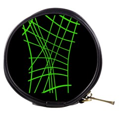 Green neon abstraction Mini Makeup Bags