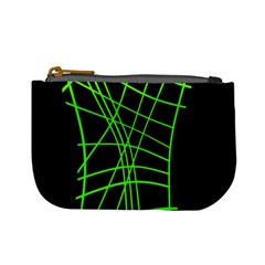 Green neon abstraction Mini Coin Purses