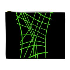 Green neon abstraction Cosmetic Bag (XL)