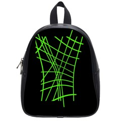 Green neon abstraction School Bags (Small)