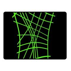 Green neon abstraction Fleece Blanket (Small)