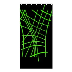 Green neon abstraction Shower Curtain 36  x 72  (Stall)
