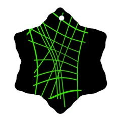 Green neon abstraction Ornament (Snowflake)