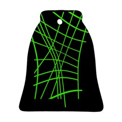 Green neon abstraction Ornament (Bell)