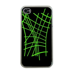 Green neon abstraction Apple iPhone 4 Case (Clear)
