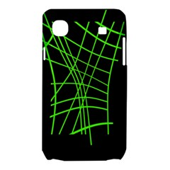 Green neon abstraction Samsung Galaxy SL i9003 Hardshell Case