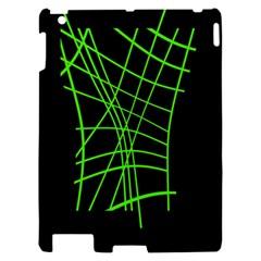 Green neon abstraction Apple iPad 2 Hardshell Case