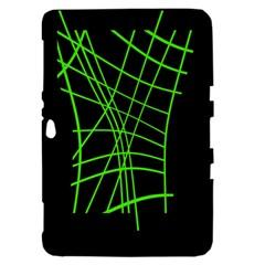 Green neon abstraction Samsung Galaxy Tab 8.9  P7300 Hardshell Case