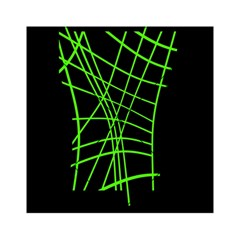 Green neon abstraction Acrylic Tangram Puzzle (6  x 6 )