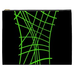 Green neon abstraction Cosmetic Bag (XXXL)