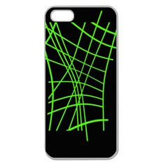Green neon abstraction Apple Seamless iPhone 5 Case (Clear)