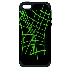 Green neon abstraction Apple iPhone 5 Hardshell Case (PC+Silicone)