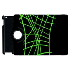 Green neon abstraction Apple iPad 2 Flip 360 Case