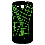 Green neon abstraction Samsung Galaxy S3 S III Classic Hardshell Back Case Front