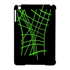 Green neon abstraction Apple iPad Mini Hardshell Case (Compatible with Smart Cover)