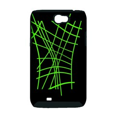Green neon abstraction Samsung Galaxy Note 2 Hardshell Case (PC+Silicone)