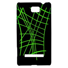 Green neon abstraction HTC 8S Hardshell Case