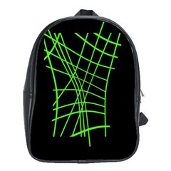 Green neon abstraction School Bags (XL)