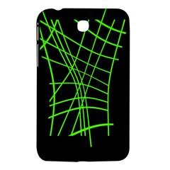 Green neon abstraction Samsung Galaxy Tab 3 (7 ) P3200 Hardshell Case
