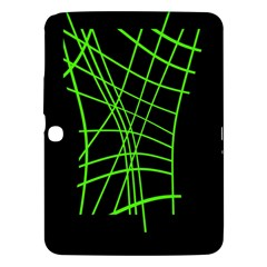 Green neon abstraction Samsung Galaxy Tab 3 (10.1 ) P5200 Hardshell Case