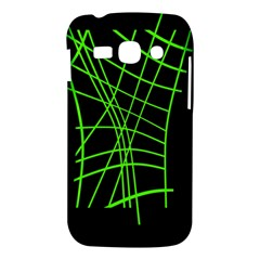 Green neon abstraction Samsung Galaxy Ace 3 S7272 Hardshell Case