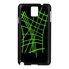Green neon abstraction Samsung Galaxy Note 3 N9005 Case (Black)