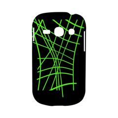 Green neon abstraction Samsung Galaxy S6810 Hardshell Case