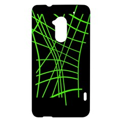 Green neon abstraction HTC One Max (T6) Hardshell Case