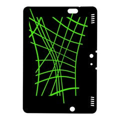 Green neon abstraction Kindle Fire HDX 8.9  Hardshell Case