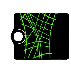 Green neon abstraction Kindle Fire HDX 8.9  Flip 360 Case