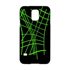 Green neon abstraction Samsung Galaxy S5 Hardshell Case
