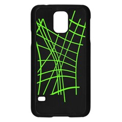 Green neon abstraction Samsung Galaxy S5 Case (Black)